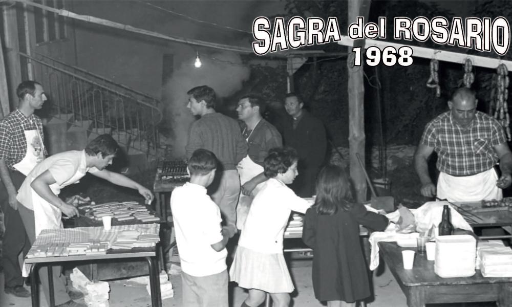 I volontari dello stand gastronomico della sagra del Rosario nel 1968